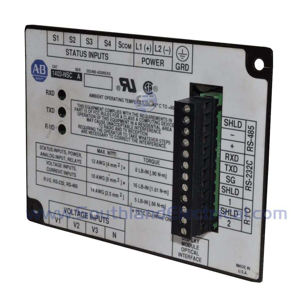 1403-NSC Series A Allen Bradley Programmable Logic Controls