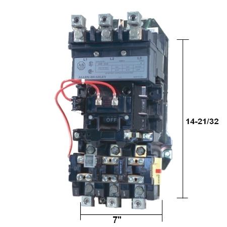 Allen bradley low voltage starters contactors southland for Allen bradley manual motor starter
